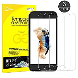 iPhone 6s Screen Protector, JETech 3-Pack Premium Tempered Glass Screen Protector Film for Apple iPhone 6 and iPhone 6s New Model 4.7