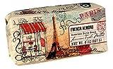 San Francisco Triple Milled Bath Bar Soap - Pillow Gift Box - 8 OZ. each (French Almond, 1 Pack)