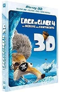 L'Age de glace 4 : La dérive des continents [Combo Blu-ray 3D + Blu-ray + DVD + Copie digitale]