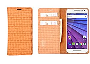 R&A Pu Leather Wallet Case Cover For HTC One V