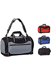 BLACK-SPORT GYM DUFFEL WITH COOLER POCKET