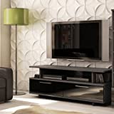 South Shore Reflekt Collection TV Stand, Gray, Oak
