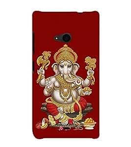 Lord Vinayaka Swamy Vigneswara 3D Hard Polycarbonate Designer Back Case Cover for Nokia Lumia 535 :: Microsoft Lumia 535