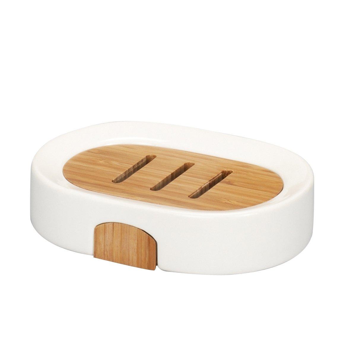 Zeller 18350 Seifenschale, Keramik / Bamboo