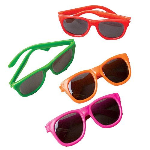 Fashion Sunglasses, 12 Count, Assorted Colors