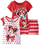 Disney Baby-Girls Infant 3 Piece Minnie Mouse Bowtiful Short Set