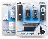 Wii - Dual Charger Ladestation inkl. 2x 700 mAh Akkus und Batteriefachdeckel (farblich sortiert weiß/schwarz, keine Farbwahl möglich)