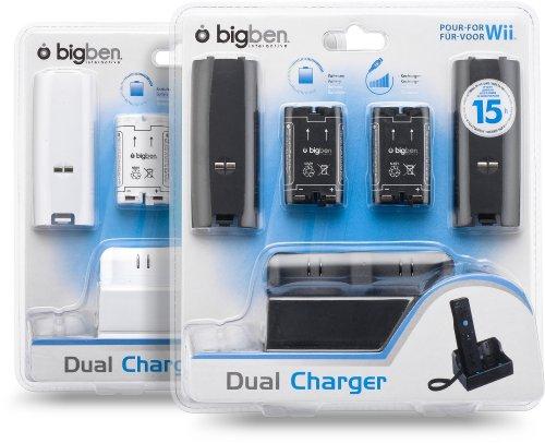 PACK 2 BATTERIES 1200 MAH + 2 CAPOTS ET UN DOUBLE SOCLE DE CHARGE + 1 CÂBLE USB POUR WII REMOTE ...