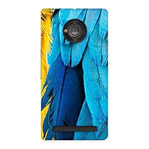Blue Feathur Back Case Cover for Yu Yuphoria