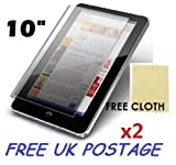 2x Universal Android Windows Tablet PC Screen Protector Cover Shield + Free Cloths 2 Pack (10