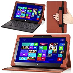 MoKo Rotatory Detachable Type / Touch Keyboard Cover Companion Sleeve Case for Microsoft Surface Pro / Surface Pro 2 10.6 Inch Windows 8 Tablet BROWN