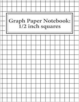 graph paper notebook 1 2 inch squares 100 pages reissa