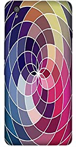 Timpax Protective Hard Back Case Cover With Easy access to all ports Printed Design : Colourful Pattern.100% Compatible with OnePlus-X