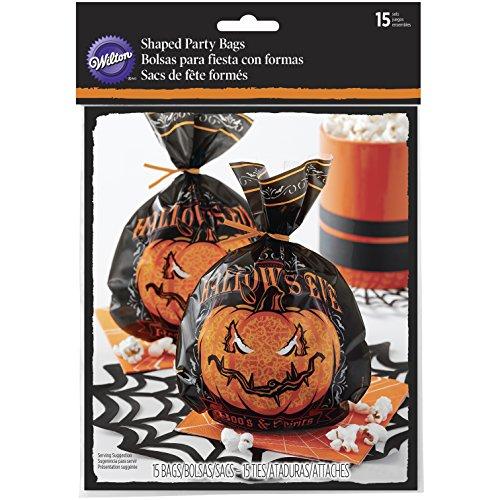 Sacs WILTON Halloween tous les creux en forme de Eve, bois, noir, 15pièces
