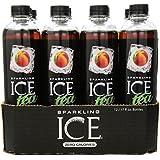 Sparkling ICE Tea Peach Tea, 17 Fluid Ounce, 12 Count