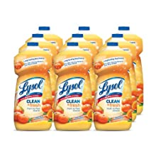 Lysol All Purpose Power & Fresh Multi-Surface Cleaner Concentrate, Tangerine Mango, 40 Ounces (Case of 9)