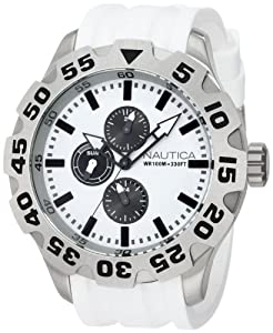 Nautica Men's N19566G BFD 100 Multifunction White Watch Set