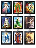 RELIGOUS BUNDLE UNFRAMED Holographic Wall Art-MULTIPLE PICTURES IN ONE-Light up your Home with Love-Lenticular Artwork-HOLOGRAM Images Change--Technology by THOSE FLIPPING PICTURES