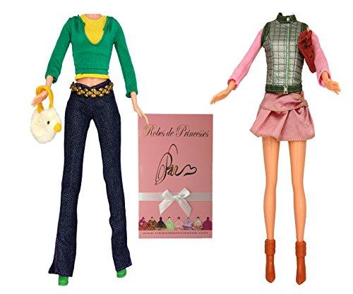 """Lotto di Vestiti """"LISE"""" per bambole Barbie, Disney ed altri personaggi - """"serie limitata"""""""