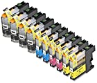 10 Pack Compatible Brother LC101 , LC103 4 Black, 2 Cyan, 2 Magenta, 2 Yellow for use with Brother DCP-J152W, MFC-J245, MFC-J285DW, MFC-J4310DW, MFC-J4410DW, MFC-J450DW, MFC-J4510DW, MFC-J4610DW, MFC-J470DW, MFC-J4710DW, MFC-J475DW, MFC-J650DW, MFC-J6520DW, MFC-J6720DW, MFC-J6920DW, MFC-J870DW, MFC-J875DW. Ink Cartridges for inkjet printers. LC101BK , LC101C , LC101M , LC101Y , LC103BK , LC103C , LC103M , LC103Y © Blake Printing Supply