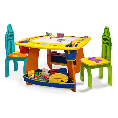 Grown Up Crayola Wooden Table & Chair Set - 1