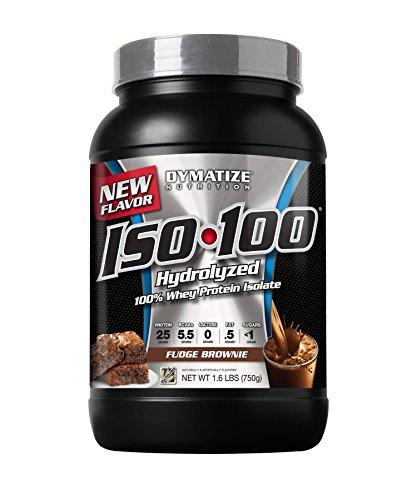 Dymatize Nutrition, Iso-100, Fudge Brownie, 1.6 Pound
