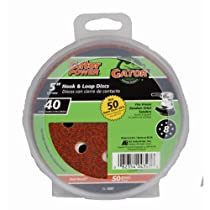 ALI INDUSTRIES 4347 8 Hole Hook and Loop 40 25 CT Grit Disc, 5-Inch, 50-Pack
