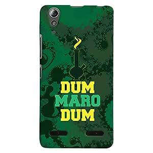 ColourCrust Lenovo A6000 Mobile Phone Back Cover With Dum Maro Dum Quirky - Durable Matte Finish Hard Plastic Slim Case