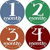 Looking Good Monthly Baby Bodysuit Stickers