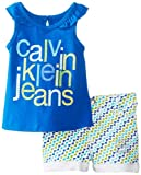 Calvin Klein Baby-Girls Infant Top with Printed Short
