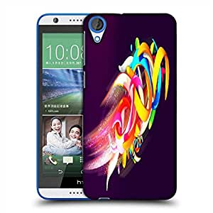 Snoogg Colorful Shapes Abstract Designer Protective Phone Back Case Cover For HTC Desire 820