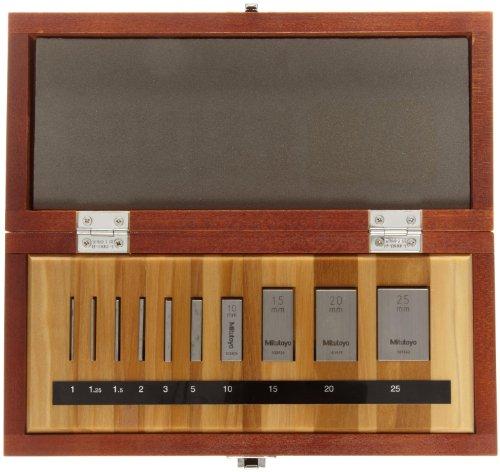 Mitutoyo Steel Rectangular Micrometer Inspection Gage Block Set,