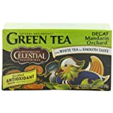 Celestial Seasonings Green Tea, Decaf Mandarin Orchard, 20-Count Tea Bags (Pack of 6)