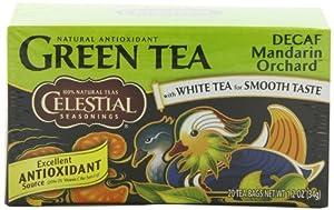 Celestial Seasonings Green Tea, Decaf Mandarin Orchard, 20-Count Tea Bags (Pack of 6)
