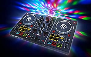 Numark Party Mix | Starter DJ Controller with Built-In Sound Card & Light Show, and Virtual DJ LE Software from inMusic Brands Inc.
