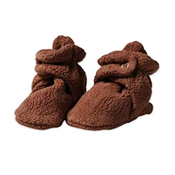 Zutano Newborn Unisex-Baby Fleece Bootie, Chocolate, 6 Months