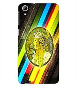 Printdhaba Abstract Design D-5624 Back Case Cover For Htc Desire 826