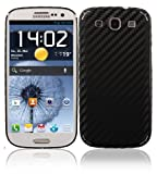 Skinomi TechSkin Samsung Galaxy S3 Screen Protector Ultra Clear Shield plus Black Carbon Fiber Full Body Protective Skin