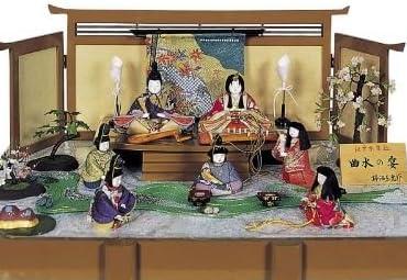 【新作雛人形】【平飾り雛人形】【柿沼東光】曲水の宴【7人飾りひな人形】【木目込み雛人形】k3-1