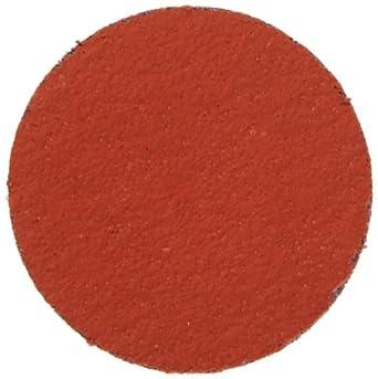 "3M Roloc Disc 977F TR, YF Weight Cloth, Ceramic Grain, Wet/Dry, 2"" Diameter, 80 Grit (Pack of 50)"