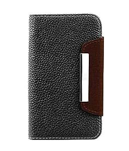 AE Google Lg Nexus 5 D820 D821 Leather Flip Wallet Case Cover Pouch Table Talk New Black