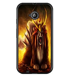 PrintDhaba Fantasy Creature D-1127 Back Case Cover for MOTOROLA MOTO E2 (Multi-Coloured)