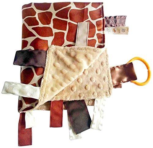 Baby Jack Blankets Giraffe Spots Satin Tab Lovey