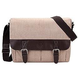 13 Inch MacBook Air / Pro Laptop CaseCrown Haverford Messenger Bag (Beige / Brown)