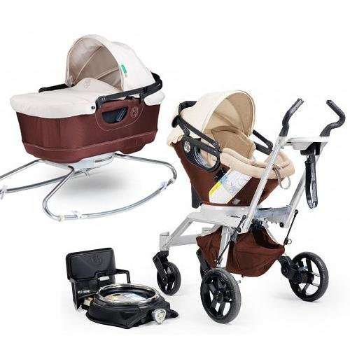 Orbit Baby Stroller Travel System G2 with Bassinet Cradle G2 Mocha Khaki