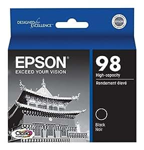 Epson Claria T098120 Hi-Definition 98 High-capacity Inkjet Cartridge-Black