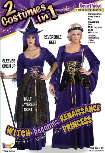 2 Costumes In 1 Witch And Renaissance Princess Costumes