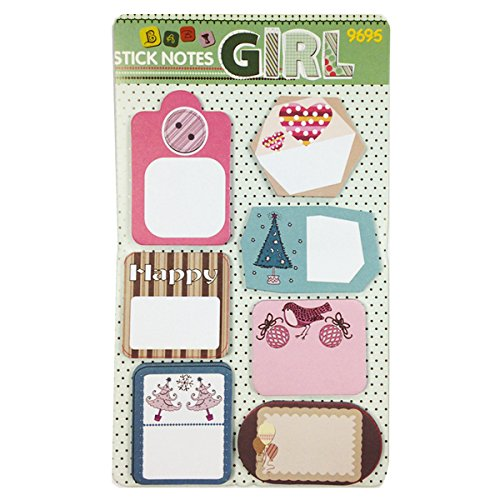 Wrapables Trendy Post It Sticky Notes Happy Office