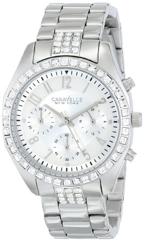 Caravelle by Bulova Women's Steel Bracelet & Case Quartz Silver-Tone Dial Chronograph Watch 43L171