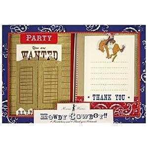 Meri Meri Invite & Thank You Set Howdy Cowboy